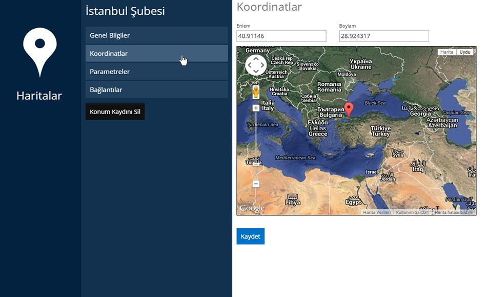 Haritalar Koordinat Girişi