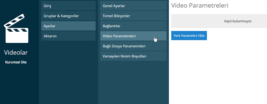 Video Parametreleri