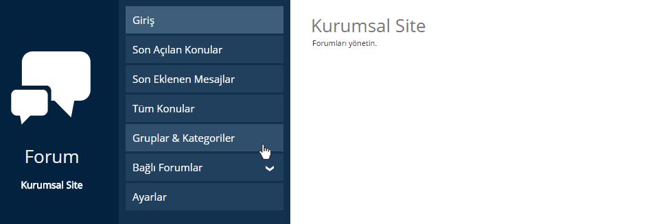 Forum Açılış Sayfası