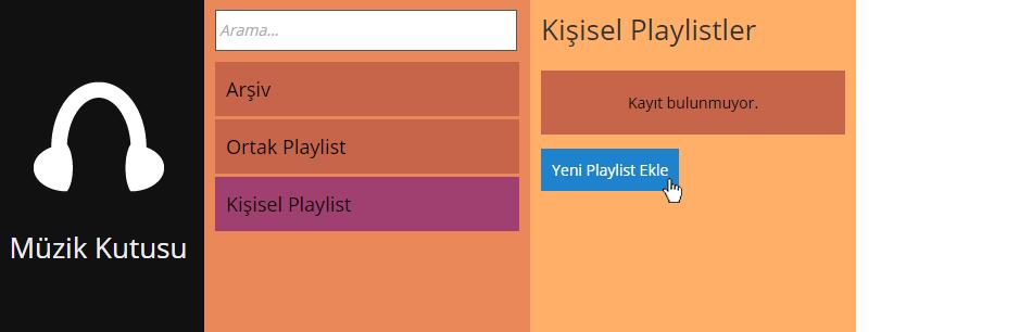 Kişisel Playlist Ekle
