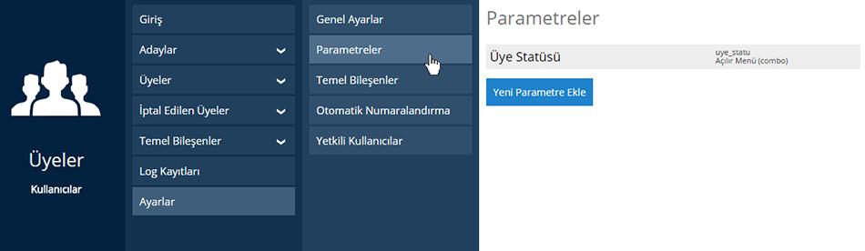 Üye Parametre Ekleme