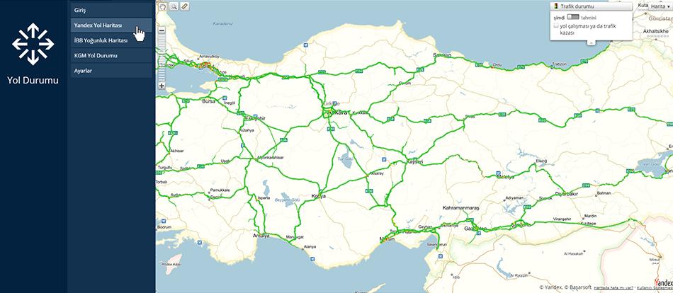 Yol Durumu, Yandex Yol Haritası